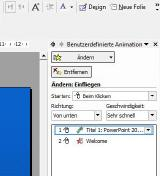 Benutzerdefinierte Animationen in PowerPoint 2002