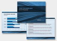 PowerPoint Design in Blau