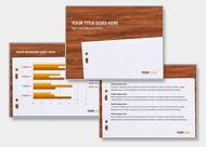 PowerPoint Design in Orange