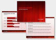 PowerPoint Design in Rot